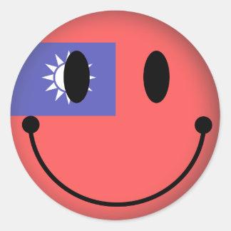 台湾のスマイリー ラウンドシール
