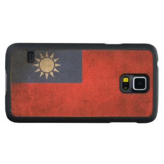 台湾のヴィンテージの動揺してな旗 CarvedメープルGalaxy S5スリムケース