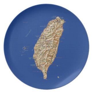 台湾の地図のプレート プレート