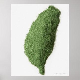 台湾の地図は草の作りました ポスター