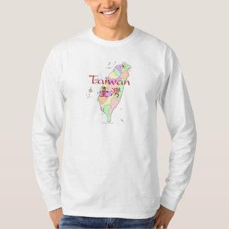 台湾の地図 Tシャツ