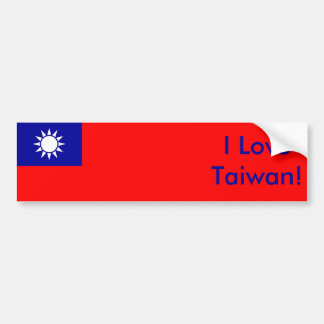 台湾の旗が付いているステッカー バンパーステッカー