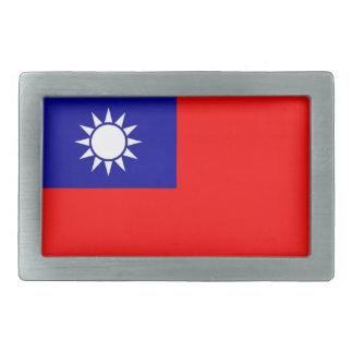 台湾の旗が付いているベルトの留め金 長方形ベルトバックル