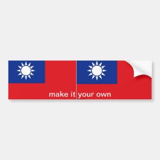 台湾の旗のバンパーステッカー バンパーステッカー