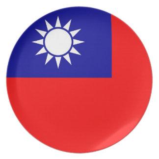 台湾の旗のプレート プレート