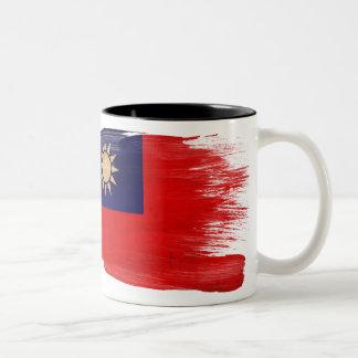 台湾の旗のマグ ツートーンマグカップ