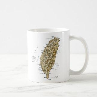 台湾の旗の~の地図のマグ コーヒーマグカップ