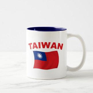 台湾の旗3 ツートーンマグカップ