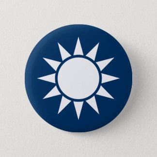 """台湾の旗""""クラシック"""" 5.7CM 丸型バッジ"""