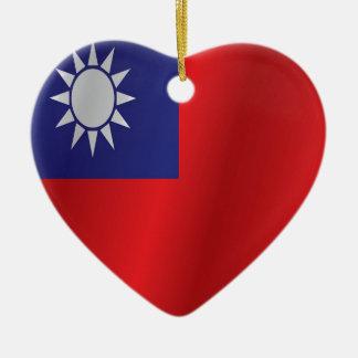 台湾の旗 セラミックオーナメント