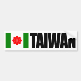 台湾の旗 バンパーステッカー