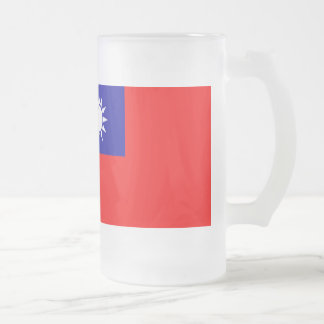 台湾の旗 フロストグラスビールジョッキ