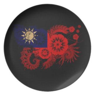 台湾の旗 プレート
