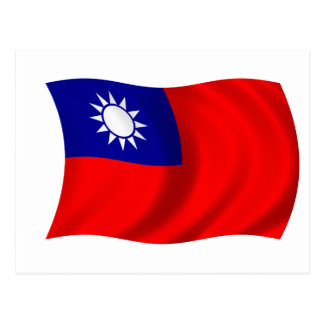 台湾の旗 ポストカード