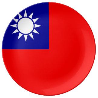 台湾の旗 磁器プレート