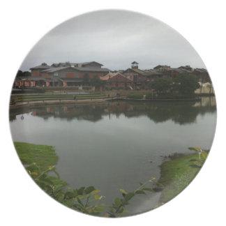 台湾の湖の家 プレート