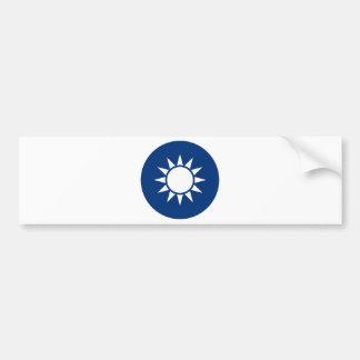 台湾の紋章付き外衣 バンパーステッカー