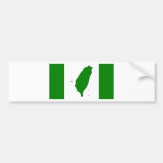 台湾-世界台灣人大會旗、也稱為台灣旗の。の旗 バンパーステッカー