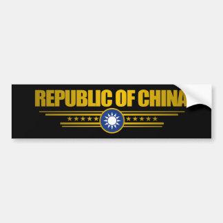 台湾(中華民国)の旗 バンパーステッカー
