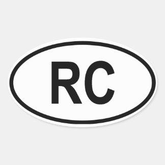 """台湾""""RC """" 楕円形シール"""