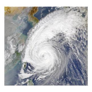 台風の衛星イメージ フォトプリント