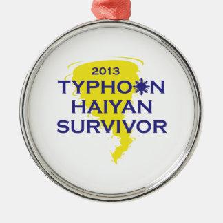 台風のHaiyanの生存者2013フィリピン メタルオーナメント