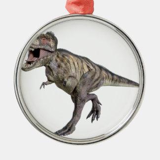 右に走るティラノサウルス・レックスのレックス メタルオーナメント