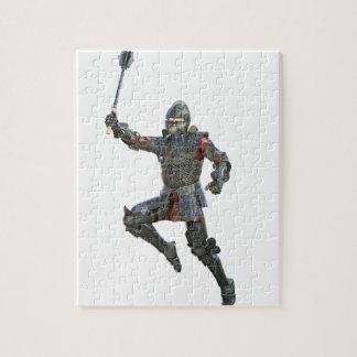 右に跳躍しているメースを持つ騎士 ジグソーパズル