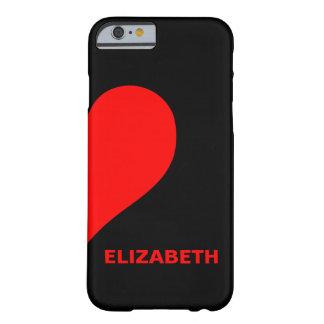 右のハートに一致させるかわいくカスタムなカップルの名前 BARELY THERE iPhone 6 ケース