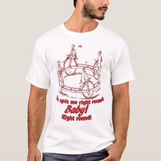 右の円形 Tシャツ