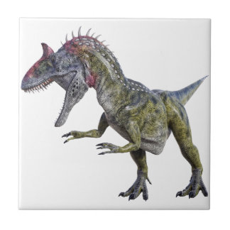右の方を向いているCryolophosaurus タイル