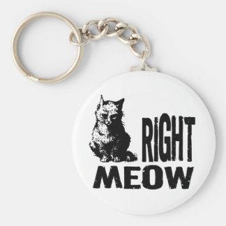 右の猫の鳴き声! おもしろいで邪悪な子猫 キーホルダー