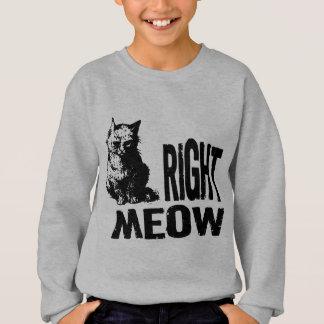 右の猫の鳴き声! おもしろいで邪悪な子猫 スウェットシャツ