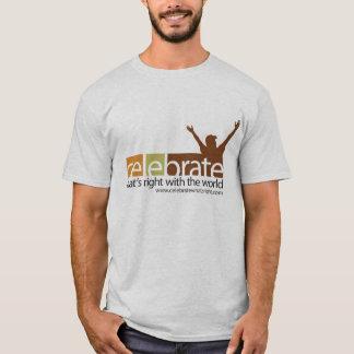 右のTシャツはであるもの祝って下さい Tシャツ
