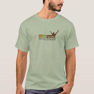 右のTシャツ-小さいロゴ--はであるもの祝って下さい Tシャツ