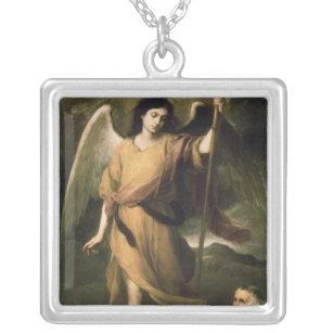 司教とのDomonte大天使Raphael シルバープレートネックレス
