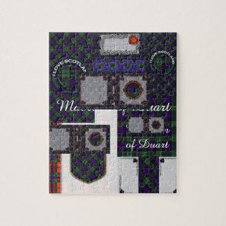 司教杖の一族の格子縞のスコットランドのキルトのタータンチェック ジグソーパズル