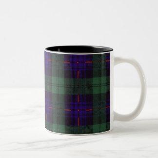 司教杖の一族の格子縞のスコットランドのキルトのタータンチェック ツートーンマグカップ