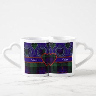 司教杖の一族の格子縞のスコットランドのキルトのタータンチェック ペアカップ