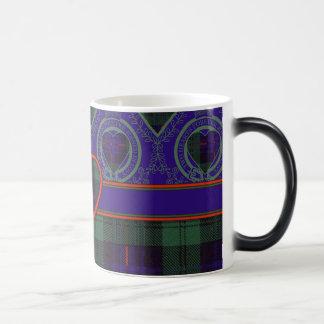 司教杖の一族の格子縞のスコットランドのキルトのタータンチェック モーフィングマグカップ