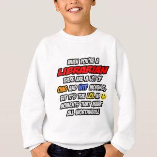 司書。 OMG WTF LOL スウェットシャツ