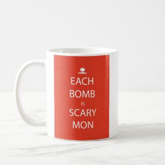 各爆弾は月曜日の恐いマグです コーヒーマグカップ