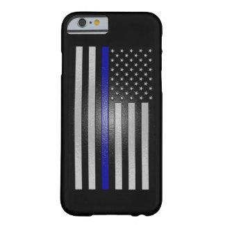 合うエンボスの薄いブルーライン旗 BARELY THERE iPhone 6 ケース