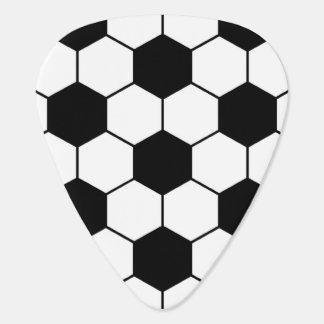 合わせられたサッカーボールパターン白黒 ギターピック