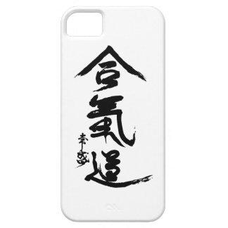 合気道の漢字のO'Senseiの書道 iPhone SE/5/5s ケース