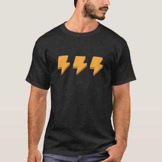 合計のアイディア-電気ボルトTシャツ Tシャツ