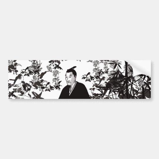 吉田松陰と鳥 バンパーステッカー