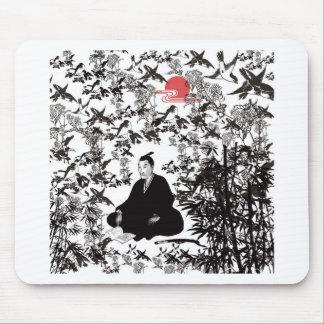 吉田松陰と鳥 マウスパッド