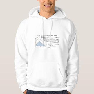 同じような三角形を使用してピタゴラスの定理の証拠 パーカ