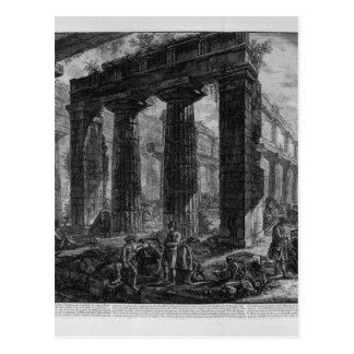 同じ寺院ジョヴァンニ・バッティスタ・ピラネージの中 ポストカード